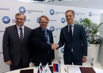 From left to right: Goran Cvijović, Director of Helios Russia, Igor Sergejevič Shedrov, General Director TMH for operational and technical activities and David Kubala, CEO of Helios Group.